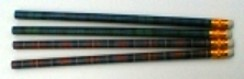 Set of 4 Tartan Pencils.