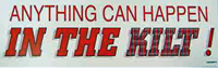 Anything Can Happen car sticker