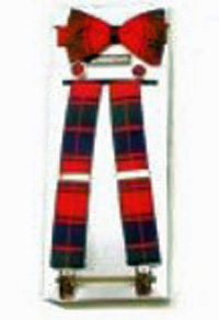 Silk Tartan Braces, Cufflinks & Bowtie Set