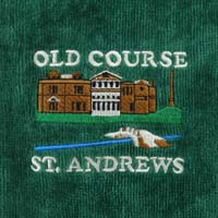 Green Embroidered Golf Towel