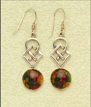 Celtic Drop Earrings with Sterling Silver fittings (se30)