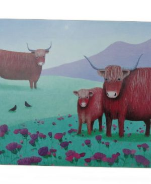 6 Highland Cow Placemats