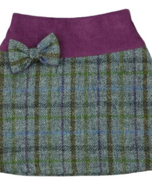 Harris Tweed & Cord Skirt