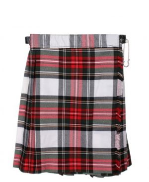 "Girls ""Dress Stewart"" tartan kilt"