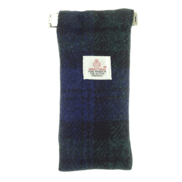 Harris Tweed Glasses Case in Black Watch