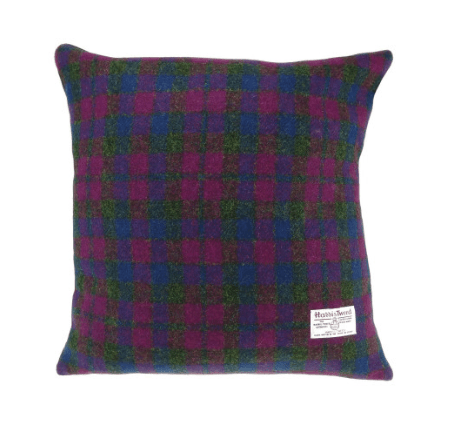 Harris Tweed Square Cushion in Heather Check1