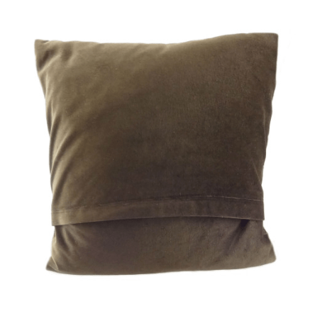 Harris Tweed Square Cushion in Large Brown Dogtooth2
