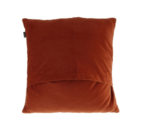 Harris Tweed Square Cushion in Rust Check2