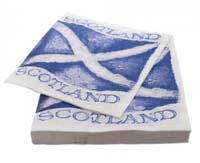 scotland flag napkins