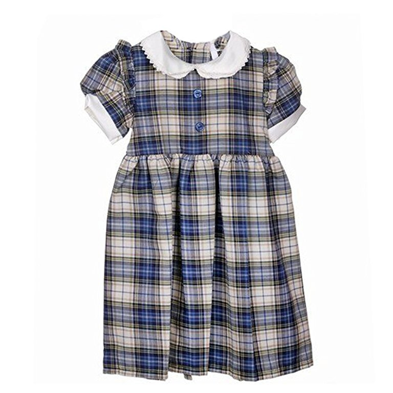 Girls Blu Tartan Dress