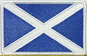 Oblong Saltire Embroidered Badge