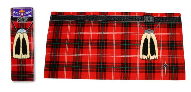 red kilt towel