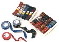 Scottish tartan ribbon