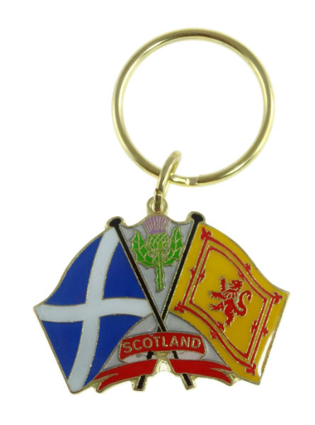 Scotland flags key ring