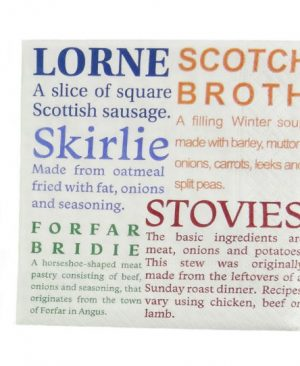 Scottish Delicacies Cocktail Napkins