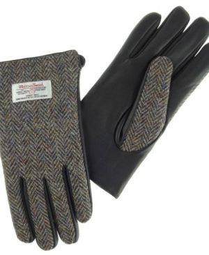 Gents Gloves with Black Leather
