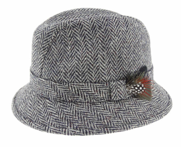 Harris Tweed Drop Brim Hat