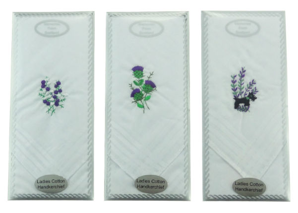 Ladies Embroidered Handkerchief ( 3 )