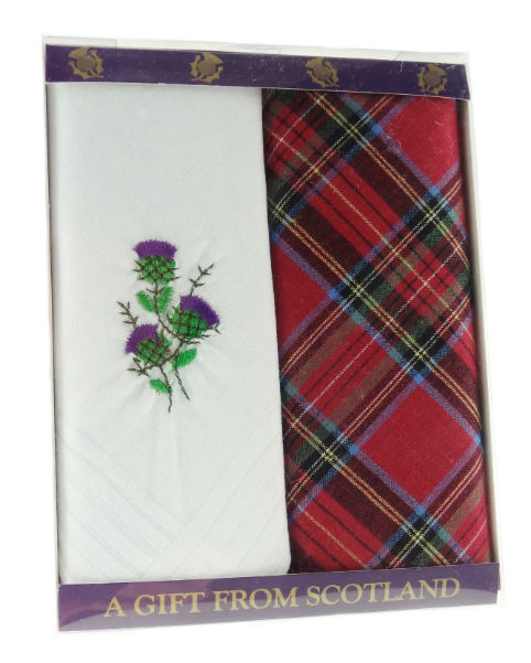 Pack of 2 Ladies Handkerchiefs