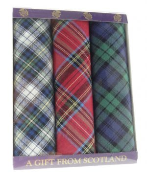 Pack of 3 Tartan Handkerchiefs