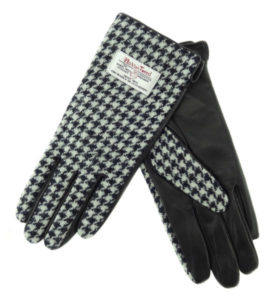 Ladies Gloves with Brown Leather