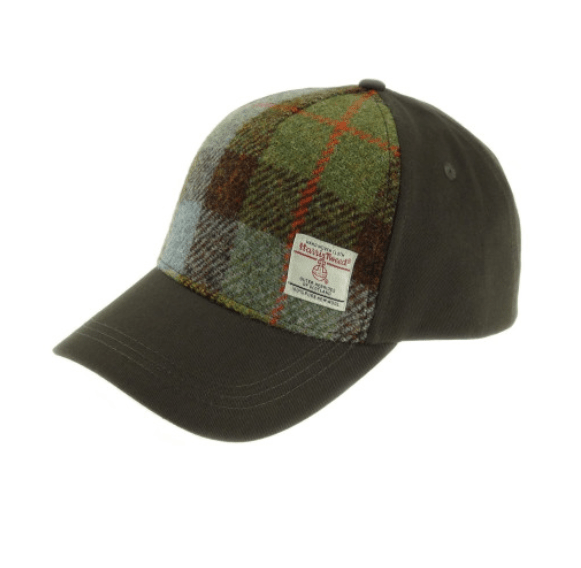 Baseball Cap with Harris Tweed in Macleod Tartan