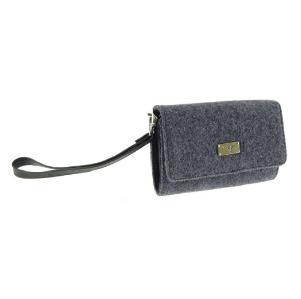 Harris Tweed 'Arran' Phone Wallet in Plain GreyPurple