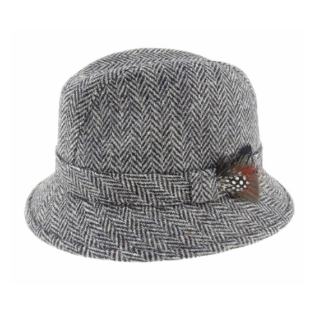 Harris Tweed Drop Brim Hat in Assorted Tweeds1