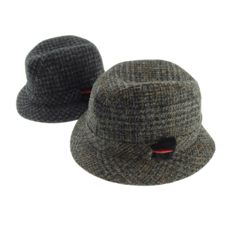 Harris Tweed Drop Brim Hat in Assorted Tweeds2