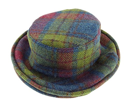Harris-Tweed-Ladies-Tartan-Cloche-Hat-Available-in-Various-Colours-New-GH0370-0