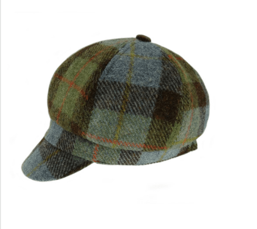 Harris Tweed One Size Ladies Cap in MacLeod Tartan