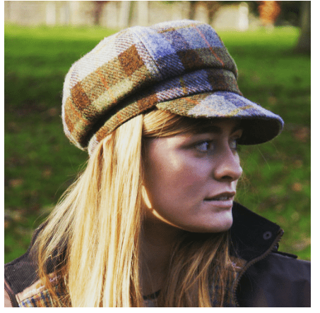 Harris Tweed One Size Ladies Cap in MacLeod Tartan2