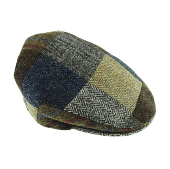 Harris Tweed Patch Cap in Assorted Tweeds – SML