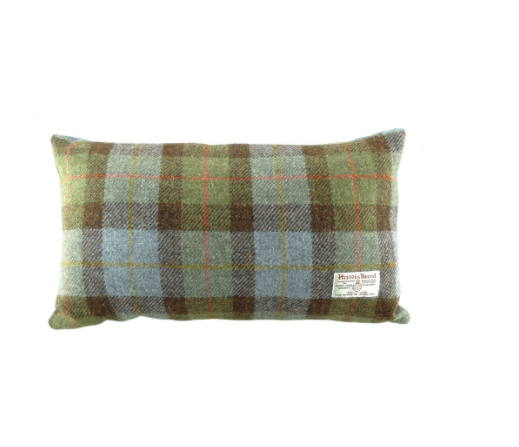 Harris Tweed Rectangular Cushion in MacLeod Tartan1