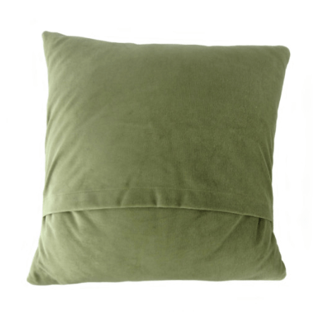 Harris Tweed Square Cushion in Green Patchwork2
